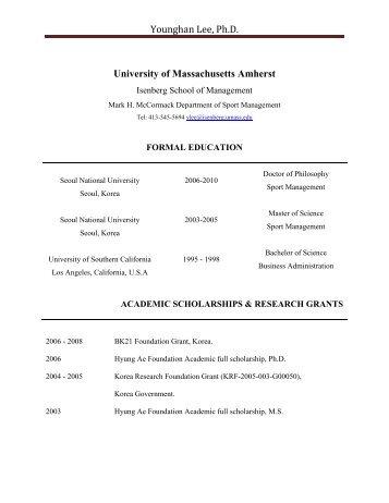 Younghan Lee, Ph.D. - Isenberg School of Management - University ...
