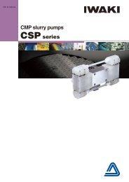 CMP slurry pumps CSP series - Iwaki Europe GmbH