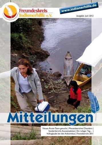 Mitteilungen - Freundeskreis Indianerhilfe eV