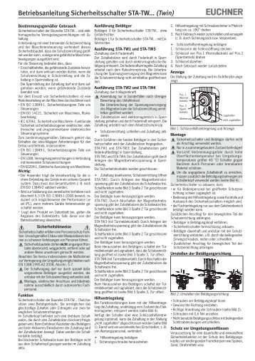Betriebsanleitung Sicherheitsschalter STA-TW... (Twin) - EUCHNER ...