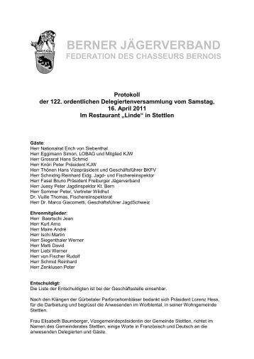berner jägerverband federation des chasseurs bernois