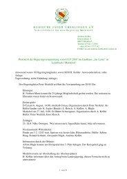 Protokoll zur Hegeringversammlung Hegering Markdorf