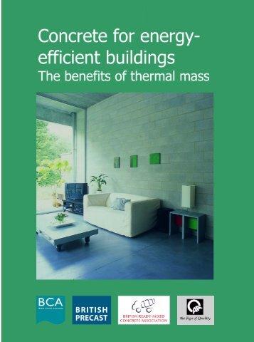 Concrete for energy-efficient buildings. The benefits ... - British Precast
