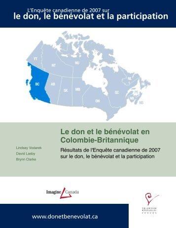 Giving and Volunteering in British Columbia ... - Imagine Canada