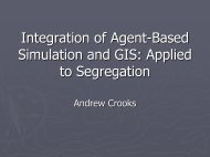 Integration of Agent-Based Simulation and GIS: Applied to ...