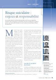 Risque suicidaire : enjeux et responsabilité - Wk-rh