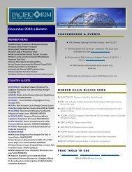 December 2010 e-Bulletin(.pdf) - Pacific Rim Advisory Council (PRAC)