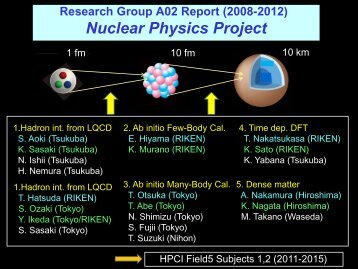 Nuclear physics project (A02) report - Joint Institute for ...