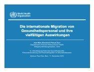 Keynote 2: Die internationale Migration von Gesundheitspersonal ...