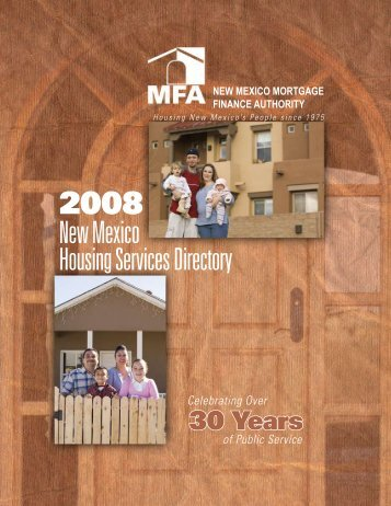 2008 New Mexico Housing Services Directory - NM Behavioral ...