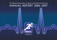BASES Annual report 2006 - 2007