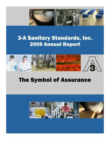 2009 Annual Report (PDF) - 3-A Sanitary Standards