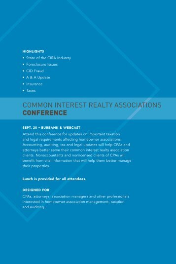 common interest realty associations conference - California Society ...