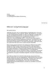 Kreisjägermeister Waffenrecht, sonstige Rechtsauslegungen