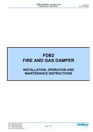 FDB2 FIRE AND GAS DAMPER - Halton