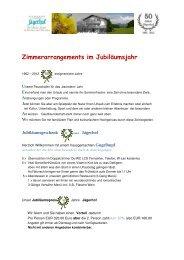 Zimmerarrangements im Jubiläumsjahr - Restaurant und Hotel ...