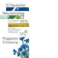 Programmheft des 31. DNT (PDF) - Deutscher Naturschutztag