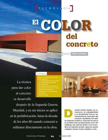 El color del concreto