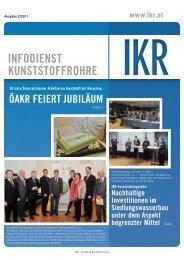 InfodIenst Kunststoffrohre - IKR