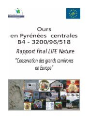 LIFE - Rapport final 2000 - Le monde des Pyrénées
