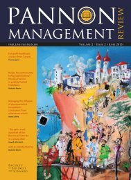 Download this issue - Pannon Management Review - uni-pannon