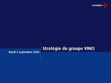 Stratégie du groupe VINCI