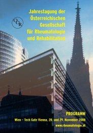 Jahrestagung der Österreichischen Gesellschaft für ... - ÖGR