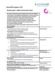 Rezertifizierung 2013_ Wundexsudat Ausschreibung - AkademieDo