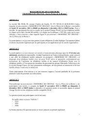 Règlement jeu-concours M6 MOBILE BY ORANGE le prince de la ...