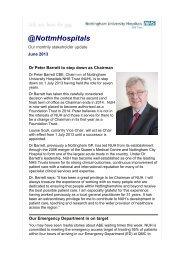 June 2013 - Nottingham University Hospitals NHS Trust