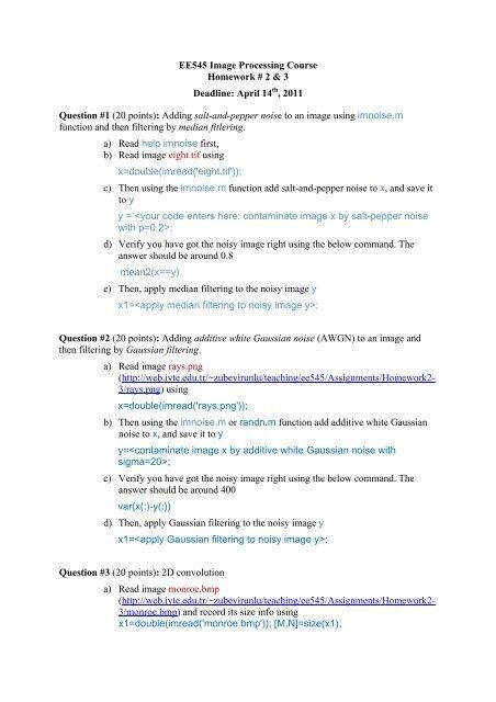 Double homework 8