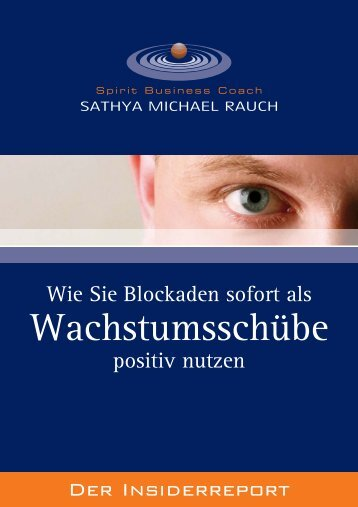E-Book jetzt downloaden! - Spirit Business Coaching