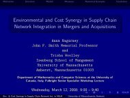 Slides (pdf) - The Virtual Center for Supernetworks - University of ...