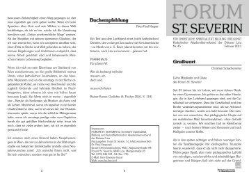 Zeitungsbrief - Katholische Hochschulgemeinde Linz