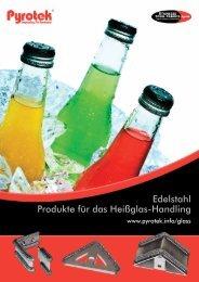 Edelstahl Produkte für das Heißglas-Handling - Pyrotek
