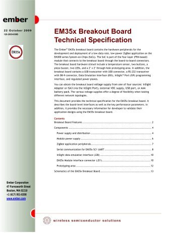 EM35x Breakout Board Technical Specification – 120 ... - wless.ru