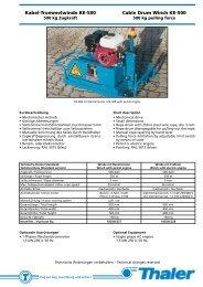 Kabel-Trommelwinde KE-500 Cable Drum ... - Jakob Thaler GmbH