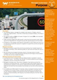 Managed Motorways Fact Sheets - Highways Agency