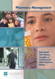 Pharmacy Management Brochure for CIGNA International Members