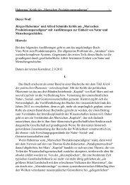"""und Alfred Schmidts Kritik am """"Marxschen Produktionsparadigma"""""""