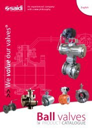 saidi ball valves product catalogue