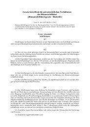Gesetz betreffend die privatrechtlichen Verhältnisse - Deutsche ...