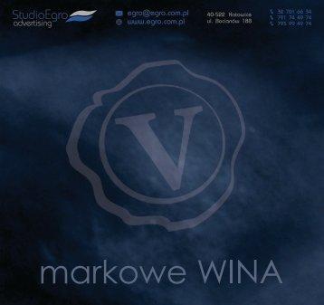 Katalog - Markowe WINA