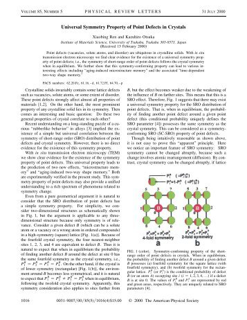 Universal Symmetry Property of Point Defects in Crystals