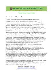 Yabani Hayat – Insan Celiskisi - Akademie für Tierschutz
