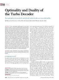 Optimality and Duality of the Turbo Decoder