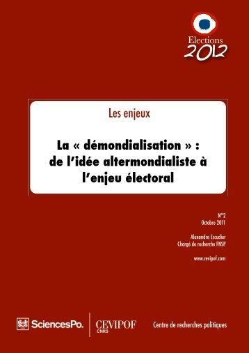 "La ""démondialisation"" - cevipof"