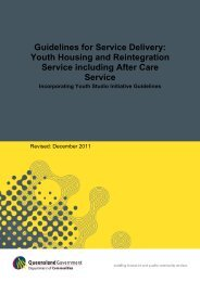 (YHARS) Guidelines - Department of Communities, Child Safety and ...