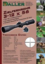 Einzelblatt - 3 -12 x 56 - Jagd - Optik Daller