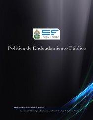 Política de Endeudamiento Público - Secretaría de Finanzas